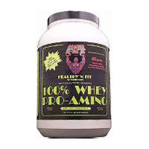 100% Whey Pro-Amino Vanilla, 2 Lb by Healthy 'n Fit