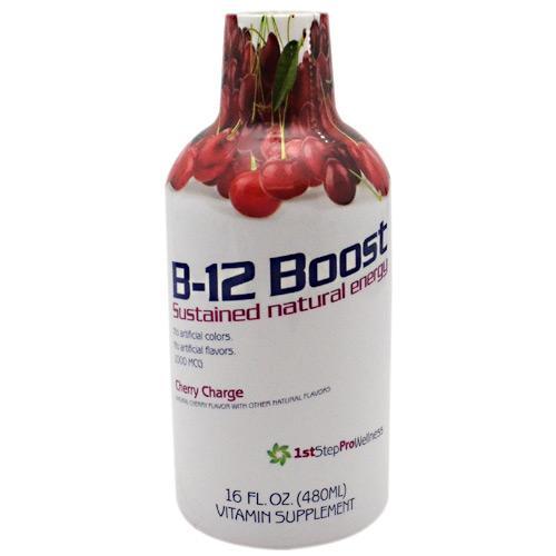 1st Step Liquid B-12 Cherry 16 oz by High Performance Fitness, Inc.