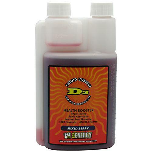 1st Step Liquid Vitamin D3 Berry 16 oz by High Performance Fitness, Inc.