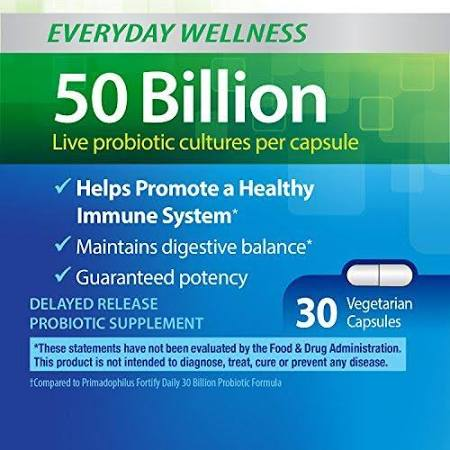 2172971 Primadophilus Fortify Probiotic Daily Extra Strength Vegetarian Capsules, 30 capsules