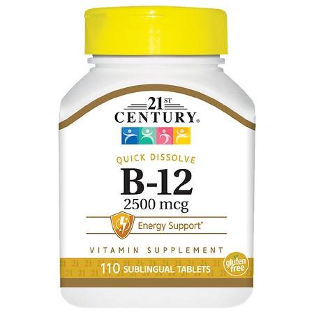21st Century B-12 2500 mcg Sublingual - 110.0 ea