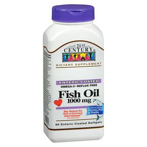 21st Century Fish Oil Enteric Coated Softgels 90 Caps by 21st Century