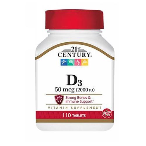 21st Century Vitamin D3 110 tabs by 21st Century