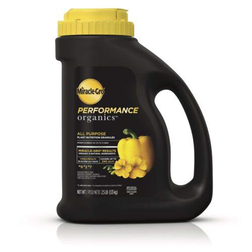 261892 2.5 lbs Miracle-Gro Performance Organic Edibles Plant Food Granules
