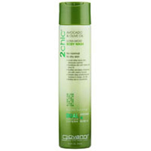 2chic Avocado and Olive Oil Ultra-Moist Body Wash 10.5 OZ by Giovanni Cosmetics
