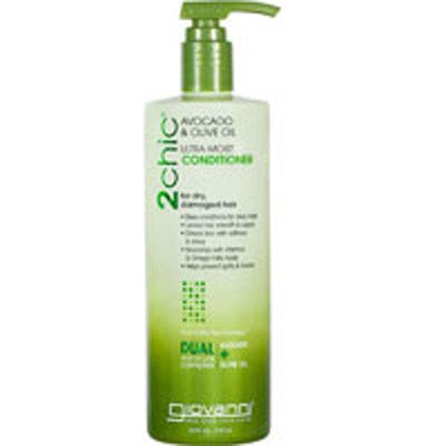 2chic Ultra Moist Avocado and Olive Oil Conditioner 24 oz by Giovanni Cosmetics