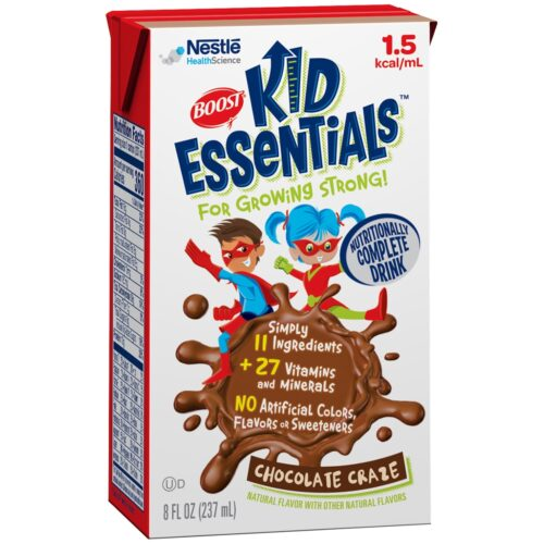33582601 8 oz Chocolate Craze Boost Kid Essentials 1.5 Pediatric Ready to Use Oral Supplement & Tube Feed Formula