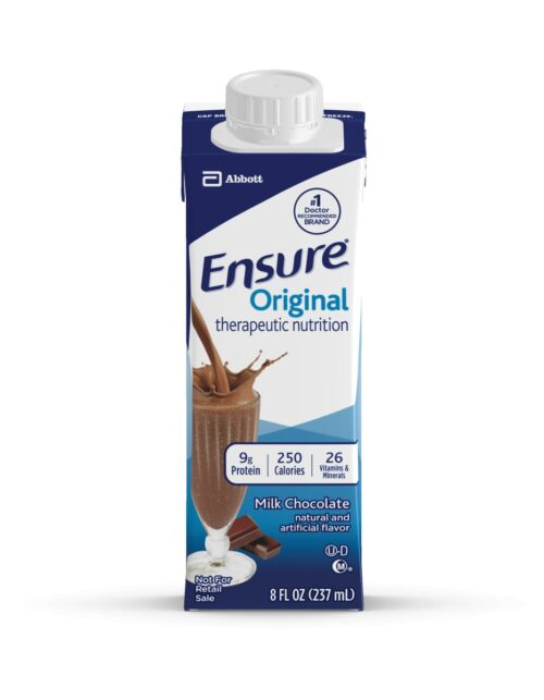64972600 8 oz Chocolate Ensure Original Therapeutic Nutrition Shake Oral Supplement, Pack of 24