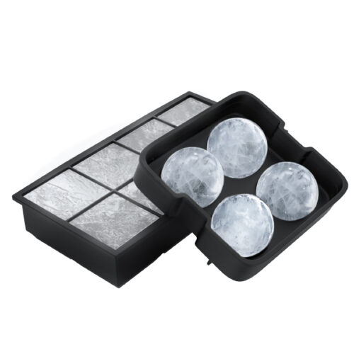 82-KIT1025 Black Ice Cube Tray - Pack of 2