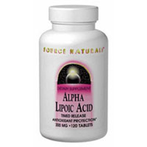 Alpha-Lipoic Acid 120 Tabs by Source Naturals