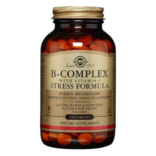 B-Complex with Vitamin C Stress Formula Tablets 250 Tabs by Solgar