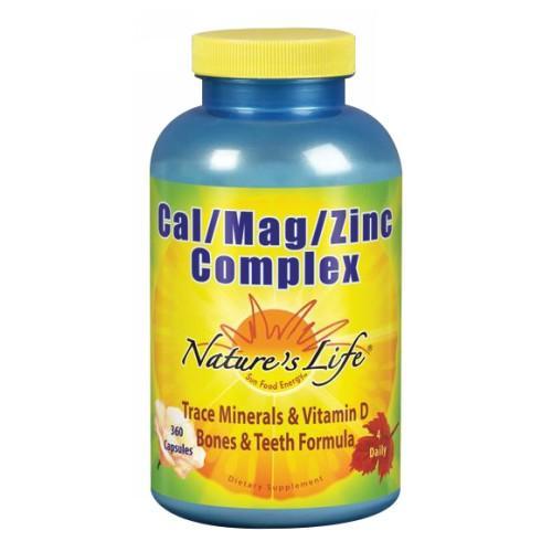 Cal-Mag-Zinc 360 caps by Nature's Life