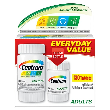 Centrum Adults, Complete Multivitamin & Multimineral Supplement Tablet - 130.0 ea