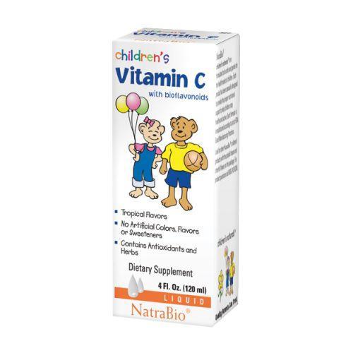Childrens Vitamin C 4 FL Oz by NatraBio