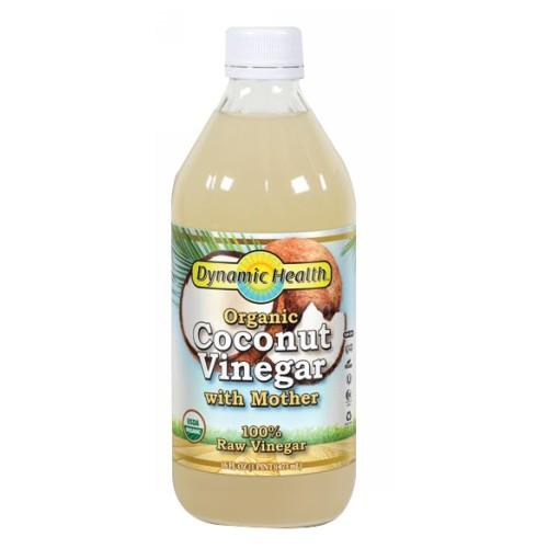 Coconut Vinegar with Mother Certified Organic 16oz by Dynamic Health Laboratories