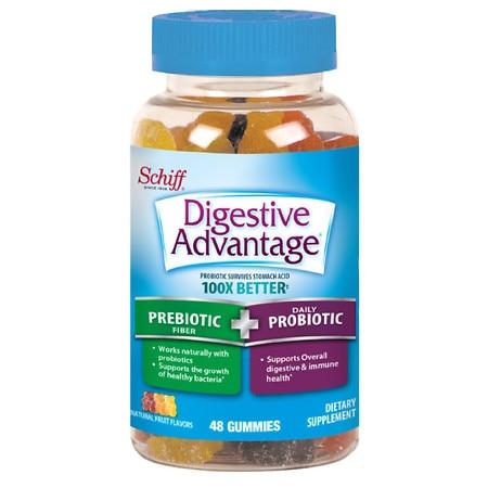 Digestive Advantage Prebiotic Fiber Plus Daily Probiotic Gummies Fruit - 48.0 ea