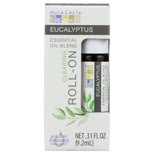 Essential Oil Blend Clearing Roll On Eucalyptus .31 Oz by Aura Cacia