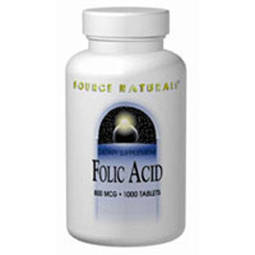 Folic Acid 200 Tabs by Source Naturals