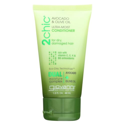 HG1198142 1.5 fl. oz 2 Chic Ultra-moist Conditioner with Avocado & Olive Oil - Case of 12