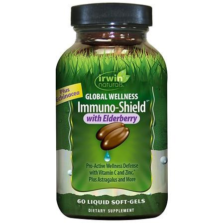 Irwin Naturals Global Wellness Immuno-Shield with Elderberry - 60.0 ea