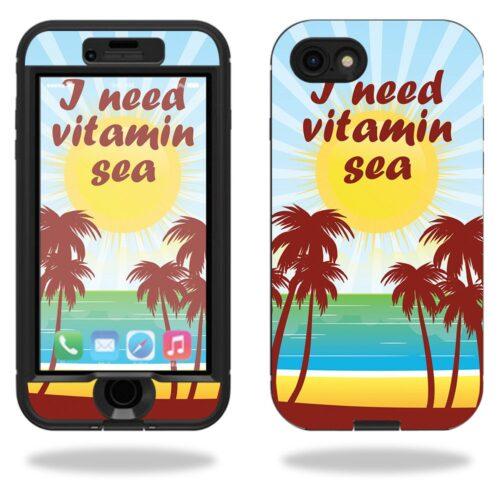 LIFIP7NUD-Vitamin Sea Skin for Lifeproof Nuud iPhone SE 2020 7 & 8 Case - Vitamin Sea