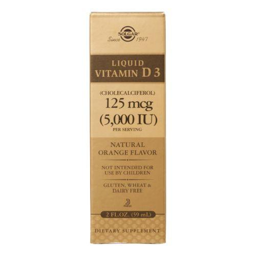 Liquid Vitamin D3 (Cholecalciferol) Natural Orange Flavor 2 oz by Solgar