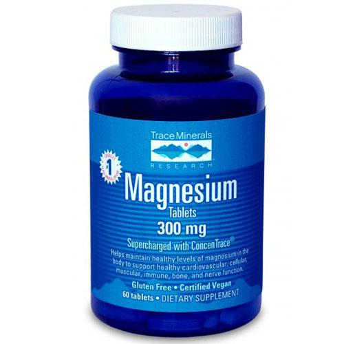 Magnesium Tablets 60 Tabs by Trace Minerals