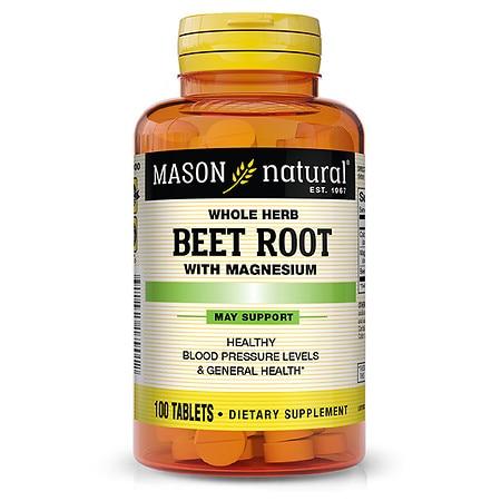 Mason Natural Beet Root With Magnesium - 100.0 ea