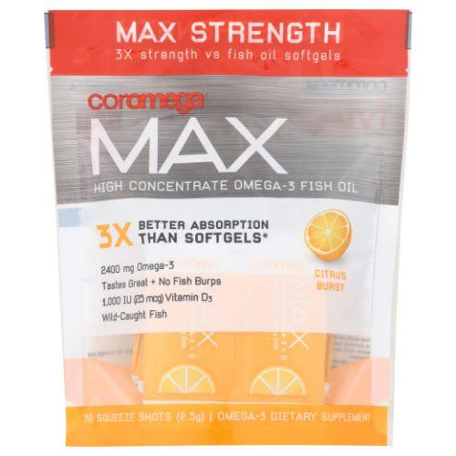 Max High Concentrate Omega-3 Citrus Burst 30 Count by Coromega