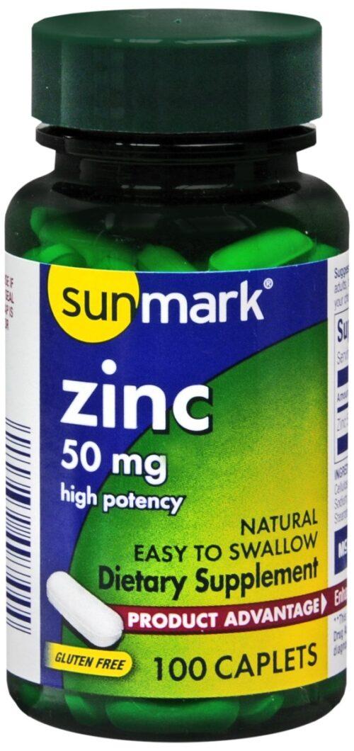 McKesson 39812700 Sunmark Zinc Supplement - Pack of 100