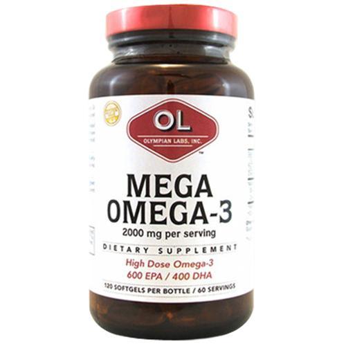 Mega Omega 3 Fish Oils 120 sg by Olympian Labs
