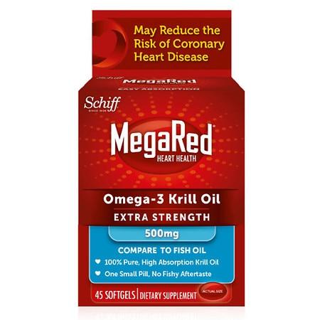 MegaRed Omega-3 Krill Oil Extra Strength 500mg - 45.0 ea