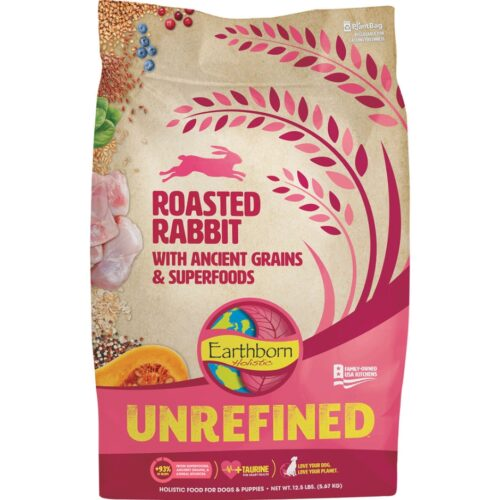 Midwestern Pet Food PF56001 12.5 lbs Earthborn Unrefined Roasted Rabbit Dog Food