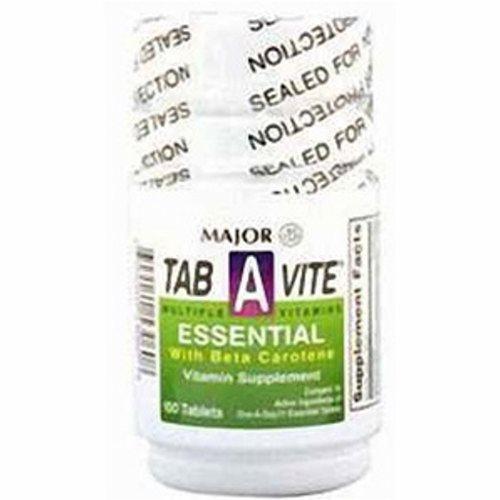 Multivitamin Supplement Major Tab-A-Vite Vitamin A / Cholcalciferol 3000 IU - 400 IU Strength Table - 100 Tabs by Major Pharmaceuticals