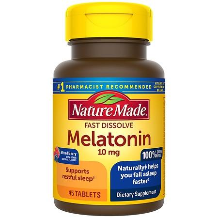 Nature Made Fast Dissolve Melatonin 10 mg Tablets - 45.0 ea