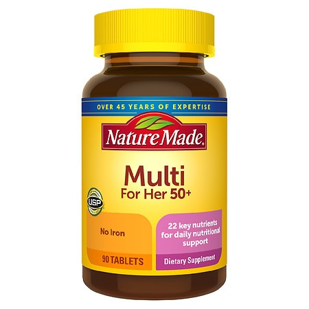 Nature Made Multivitamin For Her 50+ Tablets with No Iron - 90.0 ea
