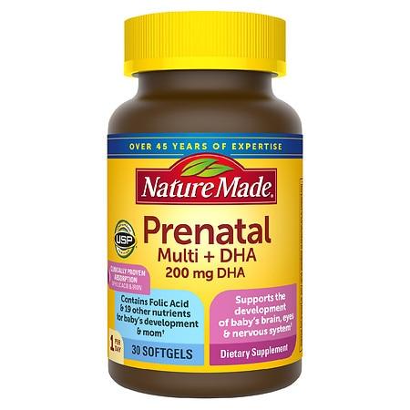 Nature Made Prenatal Multi + DHA Softgels - 30.0 ea