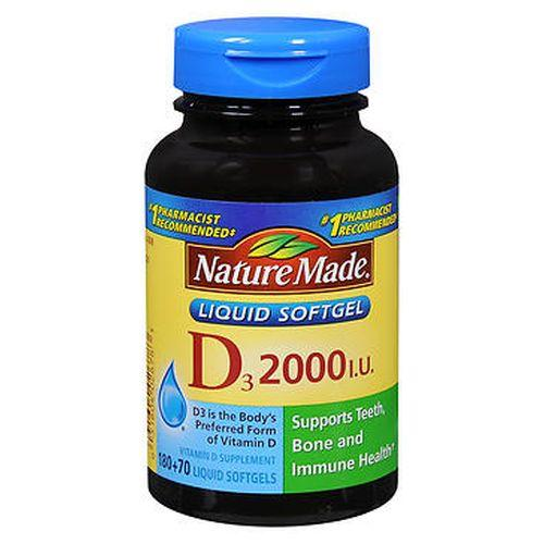 Nature Made Vitamin D3 Softgels 250 Caps by Nature Made