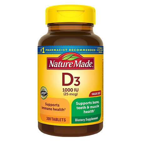 Nature Made Vitamin D3 Tablets Value Size - 300.0 ea