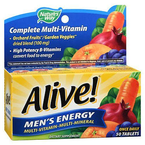 Natures Way Alive! Mens Energy MultiVitamin MultiMineral Tablets 50 Tabs by Natures Way