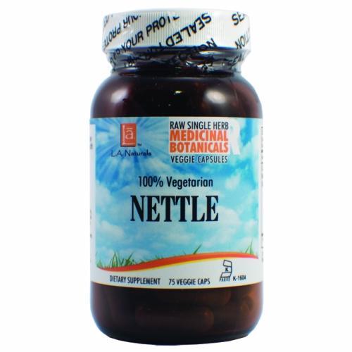 Nettle Raw Herb 75 Veg Caps by L. A .Naturals
