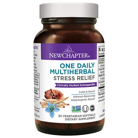 New Chapter One Daily Multi-Herbal Stress Relief - 30.0 ea
