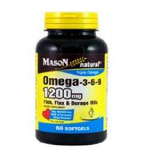 Omega 3-6-9 60 Softgels by Mason