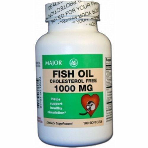 Omega 3 Supplement Major Fish Oil 1000 mg Strength Capsule 100 per Bottle 100 Softgels by Major Pharmaceuticals