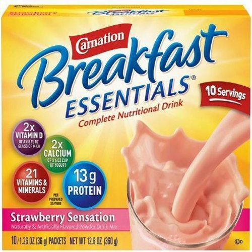 Oral Supplement Breakfast Essentials Strawberry Sensation Flavor Case of 60 by Nestle Healthcare Nutrition