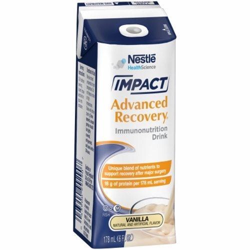 Oral Supplement Impact Advanced Recovery Vanilla Flavor Case of 15 X 6 Oz by Nestle Healthcare Nutrition