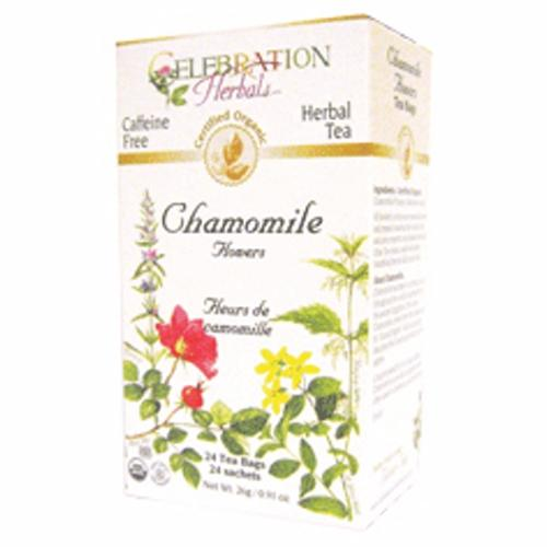 Organic Chamomile Flowers Tea 24 Bags by Celebration Herbals