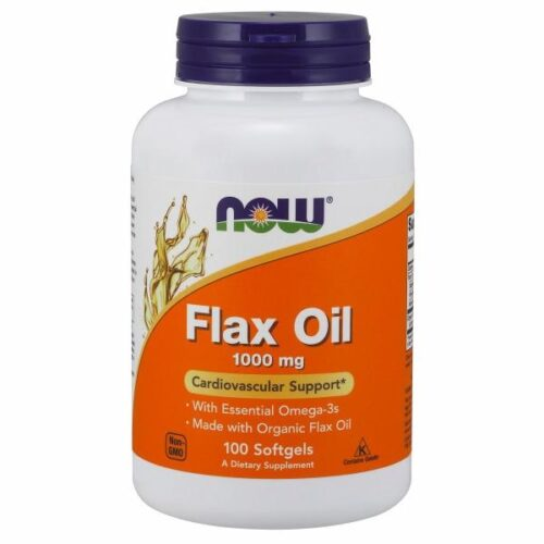 Organic Flax Oil 100 Sgels by Now Foods