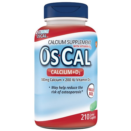 Os Cal Calcium + D3 500 mg Calcium Supplement - 210.0 ea