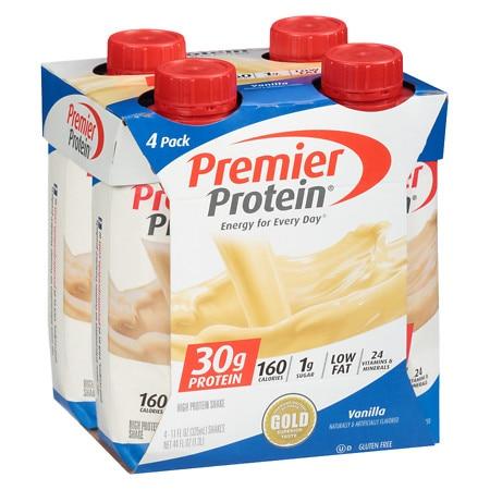 Premier Protein 30g Protein Shakes Vanilla - 11.0 oz x 4 pack